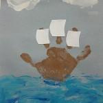 handprint boat