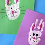 handprint bunny craft