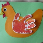handprint chicken craft
