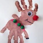 handprint christmas reindeer craft