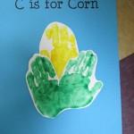 handprint corn craft