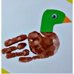 handprint duck craft