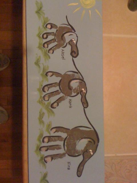 handprint elephant crafts