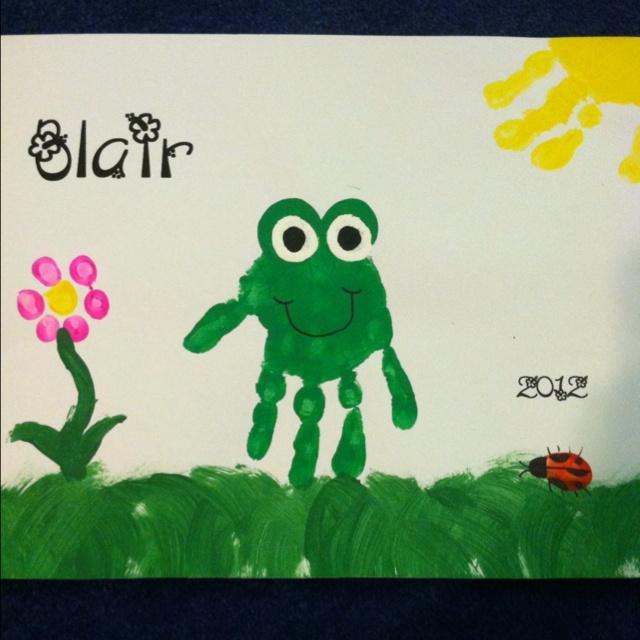 handprint frog craft