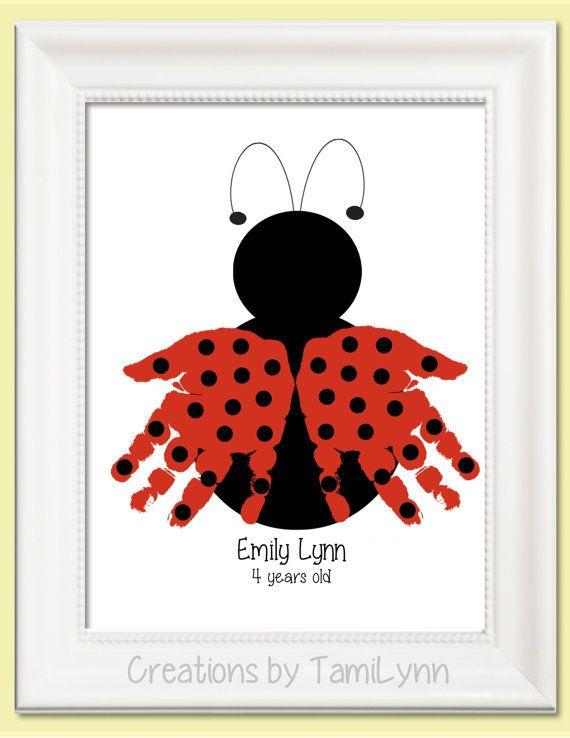 handprint ladybug craft