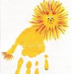 handprint lion craft