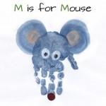 handprint mouse craft