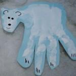 handprint polarbear craft