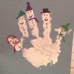 handprint snowman craft