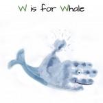 handprint whale craft