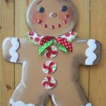 happy gingerbread cookie man