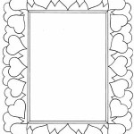 heart frame coloring
