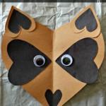 heart raccoon craft