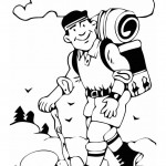 hiking_man_stick_coloring_page