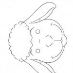 lamb mask coloring page