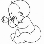 little baby_playing_coloring_page