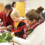 making_christmas_wreath