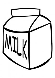 milk coloring page