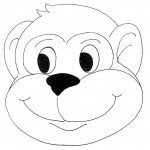 monkey mask coloring page