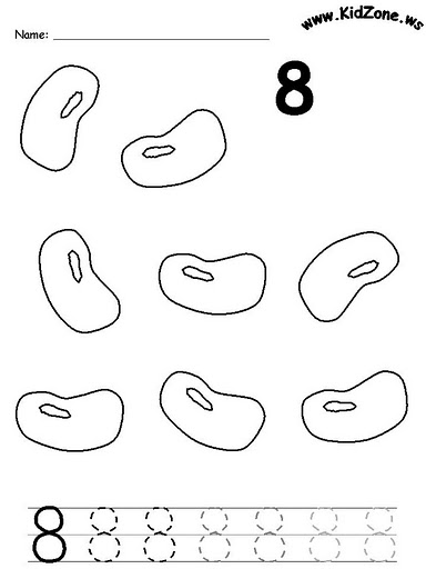 number eight 8 coloring and tracing worksheets  (19)