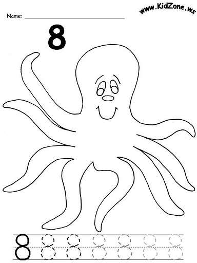 number eight 8 coloring and tracing worksheets  (2)