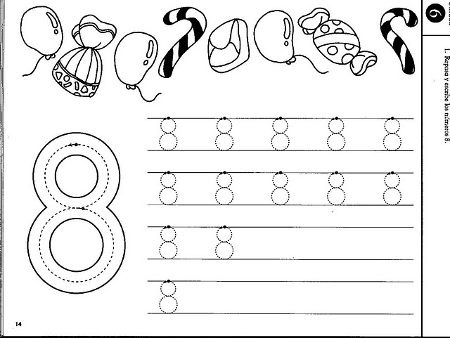number eight 8 coloring and tracing worksheets  (5)