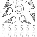 number five 5 coloring and tracing worksheets  (10)
