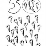 number five 5 coloring and tracing worksheets  (11)