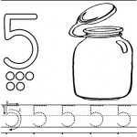 number five 5 coloring and tracing worksheets  (21)