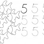 number five 5 coloring and tracing worksheets  (27)