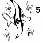number five 5 coloring and tracing worksheets  (4)