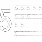 number five 5 coloring and tracing worksheets  (6)