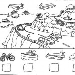 number five 5 coloring and tracing worksheets  (7)
