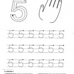 number five 5 coloring and tracing worksheets  (8)