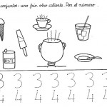 number four 4 coloring and tracing worksheets  (10)