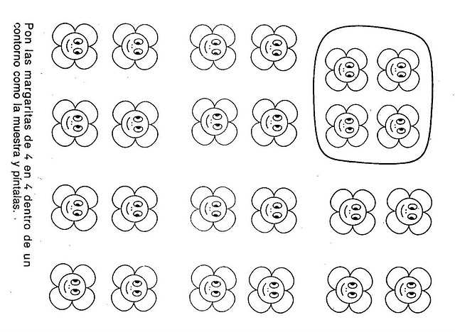 number four 4 coloring and tracing worksheets  (14)