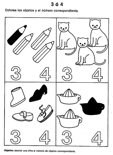 number four 4 coloring and tracing worksheets  (15)
