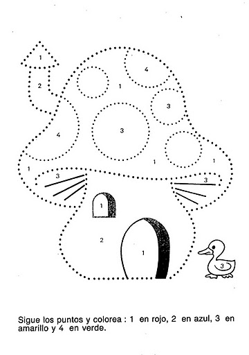 number four 4 coloring and tracing worksheets  (19)