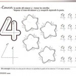 number four 4 coloring and tracing worksheets  (26)