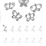 number four 4 coloring and tracing worksheets  (9)