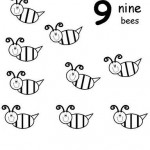 number nine 9 coloring and tracing worksheets  (10)