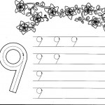 number nine 9 coloring and tracing worksheets  (20)