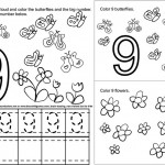 number nine 9 coloring and tracing worksheets  (3)