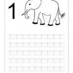 number one tracing and coloring worksheets (2)