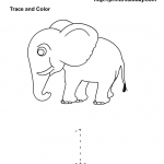 number one tracing and coloring worksheets (5)