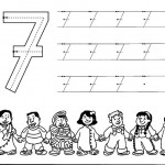 number seven 7 coloring and tracing worksheets (2)