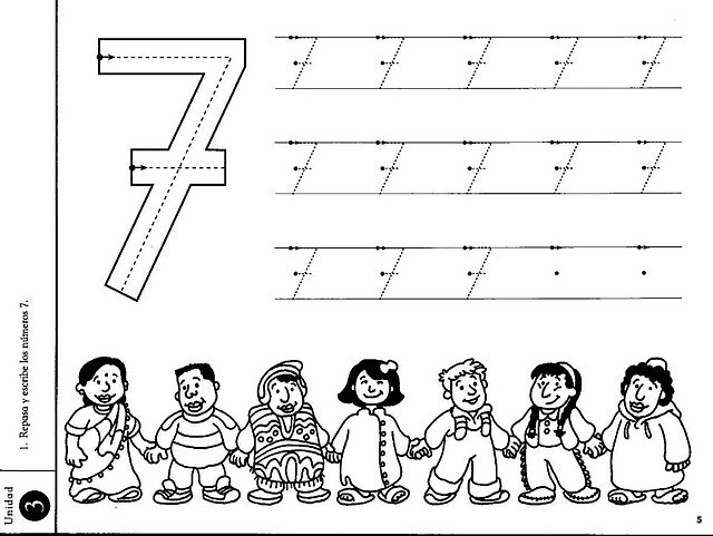 Best Photos of Number 7 Activity Sheet - Number 7 Preschool ...