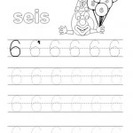 number six 6 tracing and coloring worksheets  (1)