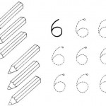number six 6 tracing and coloring worksheets  (11)