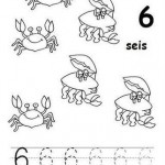 number six 6 tracing and coloring worksheets  (2)